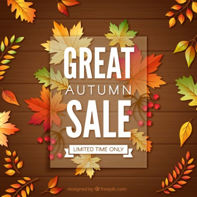Free vector Autumn sale with modern style #23738
