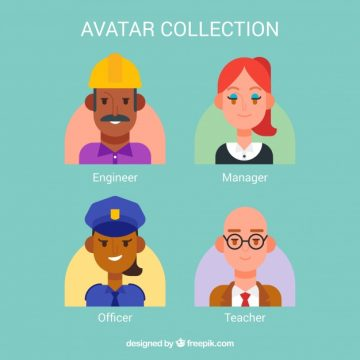 Free vector Avatar collection with lovely style #24389