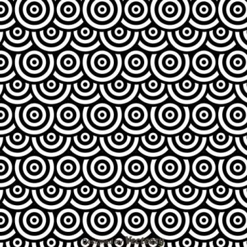 Free vector Black And White Dots Circles Pattren #24157