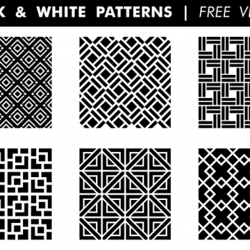 Free vector Black & White Patterns Free Vector #24201