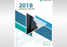 Free vector Blue creative annual report template #23422