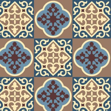 Free vector Blue Floral Pattern Vector #24227
