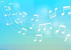Free vector Blurred background of musical notes #23566