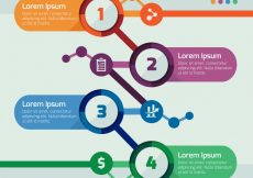 Free vector Business step infographic template #24080
