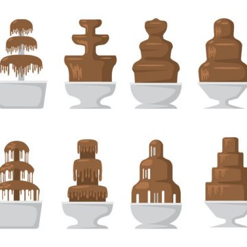 Free vector Chocolate Fountain Icons #23509