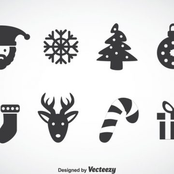 Free vector Christmas Gray Icons Vector #23635