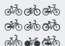 Free vector Collection of bicycle in flat design #23500