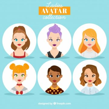 Free vector Collection of female avatar #24369