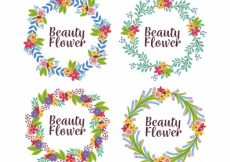 Free vector Collection of frames with cute flowers #24062