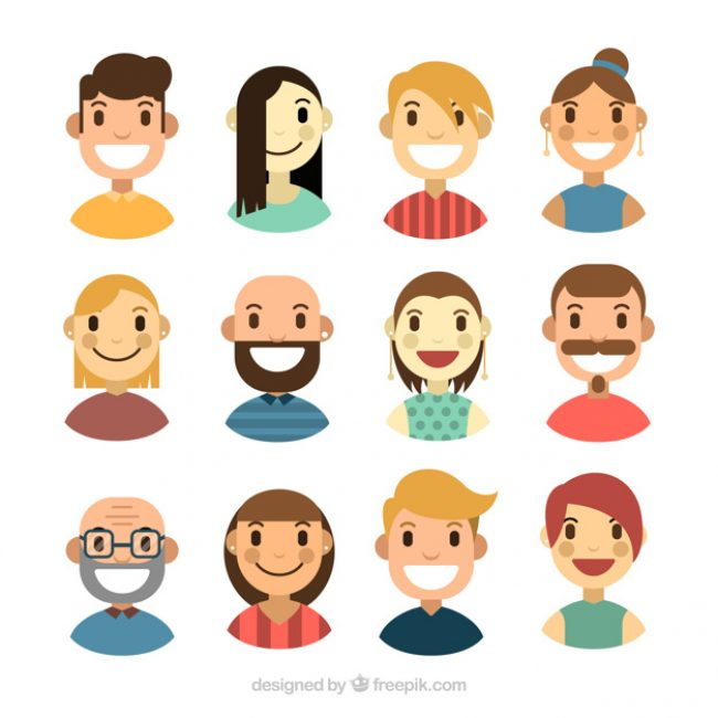 Free vector Collection of nice people avatar #24339