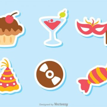 Free vector Color Birthday Icon Vectors Pack 1 #23367