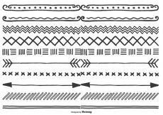 Free vector Cute Hand Drawn Style Borders #24348