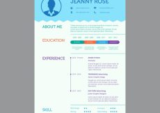 Free vector Cv template with infographic data #24000