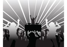 Free vector DJ and Party People #23725