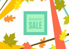 Free vector Flat autumn sale with colorful leaves #23680