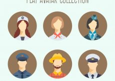 Free vector Flat set of modern workers avatars #24427