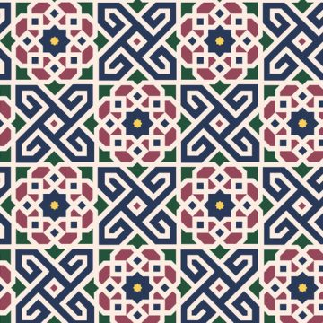 Free vector Floral Moroccan Pattern Background Vector #24191