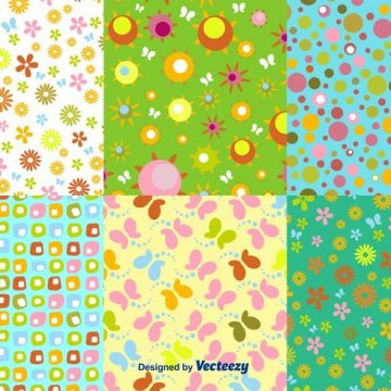 Free vector Floral Spring Pattern Vectors #24292