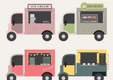 Free vector Food truck collection with flat design #23840