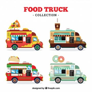 Free vector Food truck collection with modern style #23862