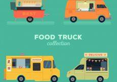 Free vector Food trucks with variety of styles #23780