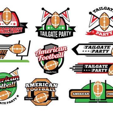 Free vector Free American Football Tailgate Party Sticker Vectors #23449
