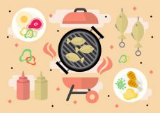 Free vector Free Barbecue Party Vector #23437