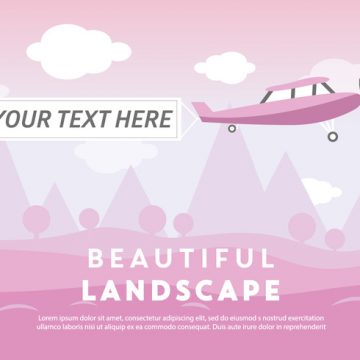 Free vector Free Beautiful Landscape Vector Backround with Airplane #23831
