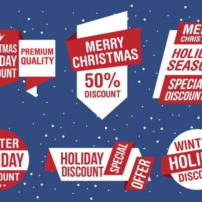 Free vector Free Christmas Vector Business Labels #23961