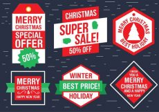 Free vector Free Christmas  Vector Labels #23963