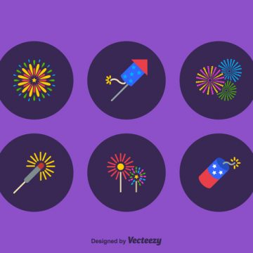 Free vector Free Firework Vector Icon Set #23559