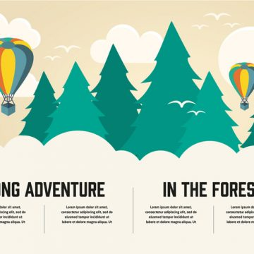 Free vector Free Flat Long Adventure Vector Background #23929