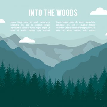 Free vector Free Flat Mountains Landscape Vector #23813