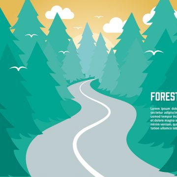 Free vector Free Flat Nature Vector Background #23789