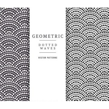 Free vector Free Geometric Dotted Waves Vector Patterns #24121