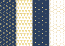 Free vector Free Golden Pattern Vector #24079