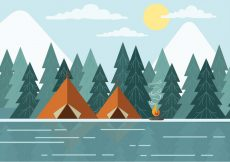 Free vector Free Landscape Vector Illustration #23989