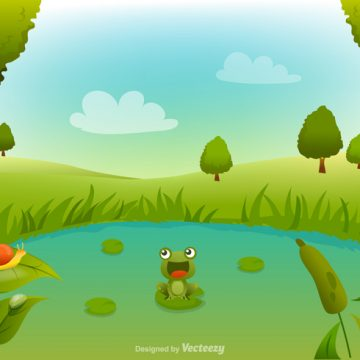 Free vector Free Swamp Cartoon Vector Background #23841