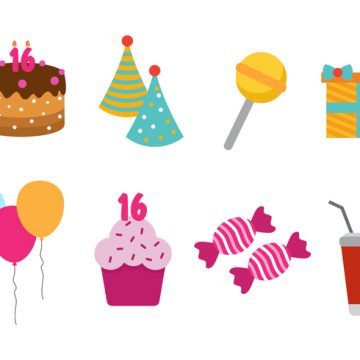Free vector Free Sweet 16 Vector Icon #23691
