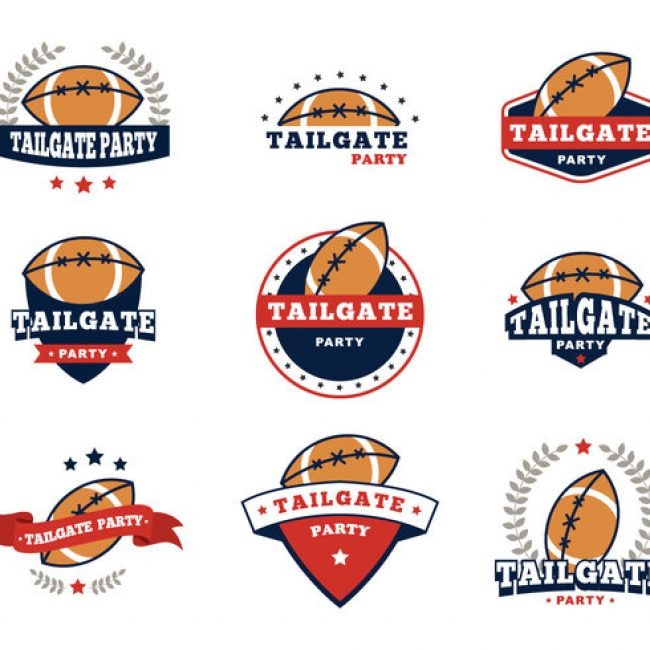 Free vector Free Tailgate Badges Party Vector #23457