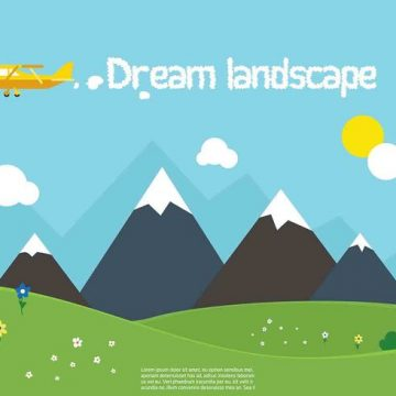 Free vector Free Vector Nature Landscape #23783