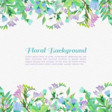 Free vector Free Vector Painted Flowers Background #24011