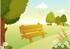 Free vector Free Vector Woodland Path Illustration #23923