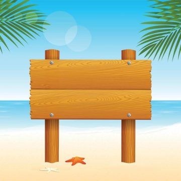 Free vector Free Wooden Billboard For Beach Vector #23847