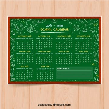 Free vector Hand drawn calendar blackboard background #24413