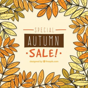 Free vector Hand drawn composition for autumn sale #23746