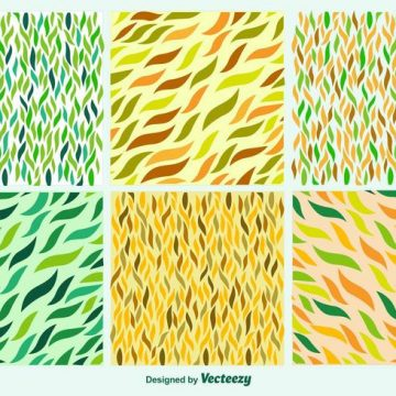 Free vector Hand drawn leaves patterns #24209