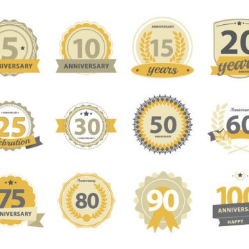 Free vector Happy Anniversary Badge #23699