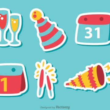 Free vector Happy New Year Vectors Pack 4 #23601