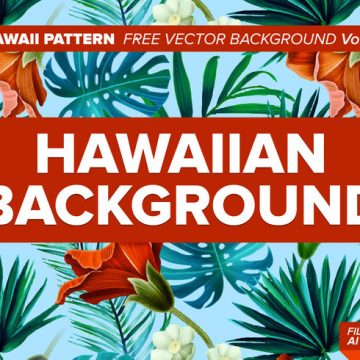 Free vector Hawaiian Pattern Free Vector Background Vol. 3 #24374
